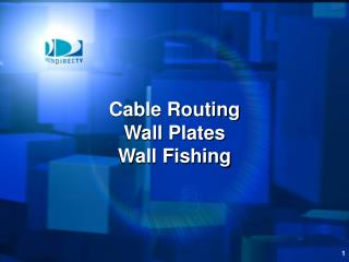 Cable Routing Wall Plates Wall Fishing