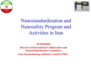 The National Nanotechnology Initiative and, by the way, what is nanotechnology