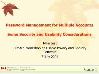 Password Management for Multiple Accounts  Some Security and Usability Considerations
