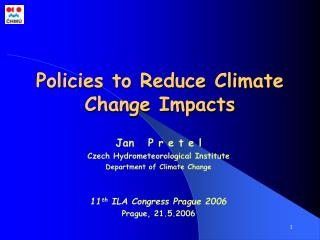 Policies to Reduce Climate Change Impacts