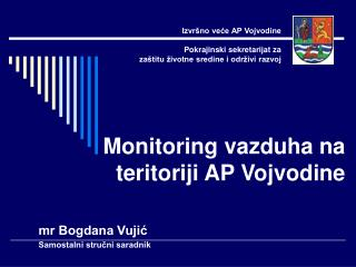 Monitoring vazduha na teritoriji AP Vojvodine