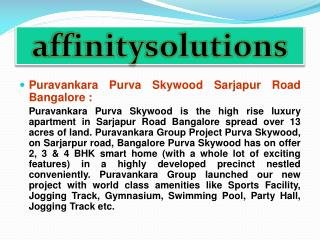 Reserve //Puravankara Purva Skywood//@09999620966 Bangalore Apartments