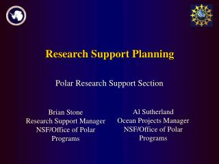 Research Support Planning
