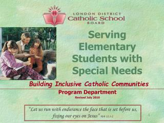 Serving Elementary  Students with Special Needs