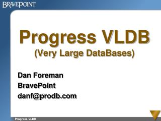 Progress VLDB Very Large DataBases