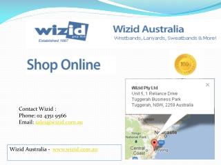 Wizid Australia - Wristbands