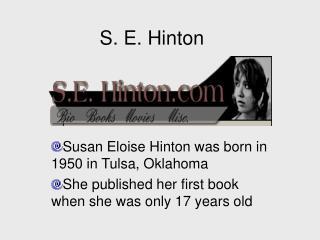 S. E. Hinton