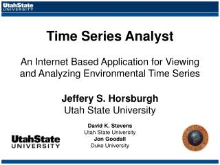 Time Series Analyst  An Internet Based Application for Viewing and Analyzing Environmental Time Series