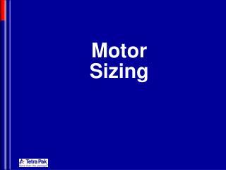 Motor Sizing
