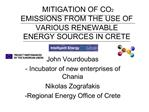 MITIGATION OF CO2 EMISSIONS FROM THE USE OF VARIOUS RENEWABLE ENERGY SOURCES IN CRETE