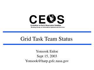 Grid Task Team Status