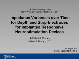 Impedance Variances over Time  for Depth and Strip Electrodes for Implanted Responsive  Neurostimulation Devices