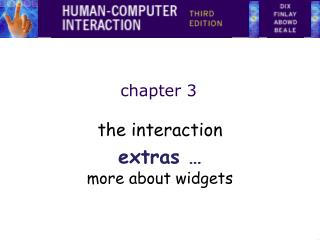The interaction extras   more about widgets