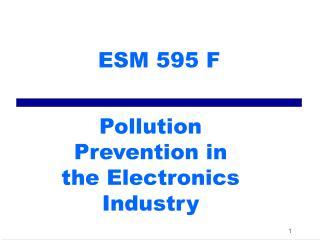ESM 595 F