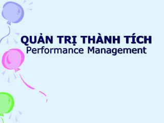 QUN TR TH NH T CH Performance Management