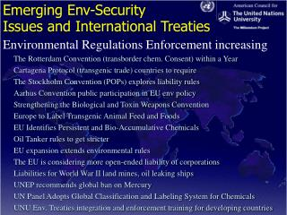 Emerging Env-Security Issues and International Treaties
