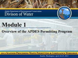Module 1 Overview of the APDES Permitting Program