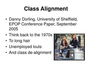 Class Alignment