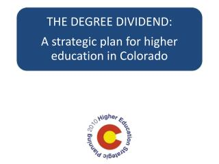 The Higher Education Strategic Planning Steering Committee