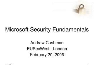 Microsoft Security Fundamentals