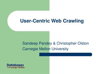 User-Centric Web Crawling