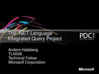 The  Language Integrated Query Project