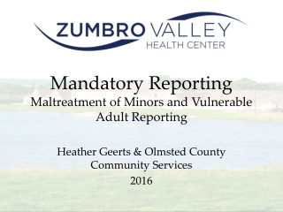 Mandatory Reporting for Minors
