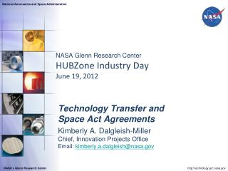 NASA Glenn Research Center  HUBZone Industry Day  June 19, 2012