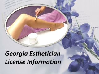 Georgia Esthetician License Information