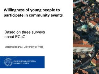 Willingness of young people to participate in community events