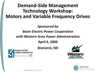 Demand-Side Management  Technology Workshop:  Motors and Variable Frequency Drives