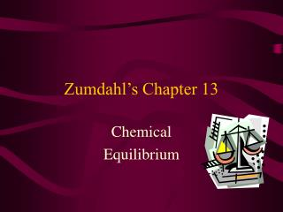 Zumdahl s Chapter 13