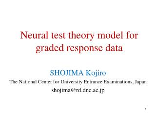 Neural test theory model for graded response data