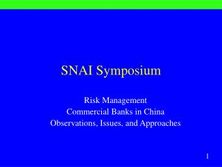 SNAI Symposium