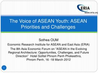 The Voice of ASEAN Youth: ASEAN Priorities and Challenges