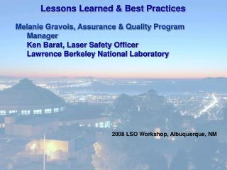 Lessons Learned  Best Practices