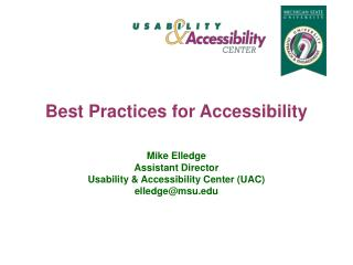Best Practices for Accessibility