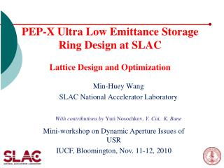 PEP-X Ultra Low Emittance Storage Ring Design at SLAC   Lattice Design and Optimization