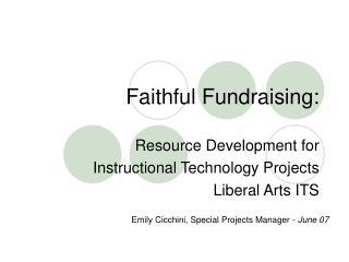 Faithful Fundraising: