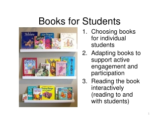 Session 6: Literacy and Adapting Books
