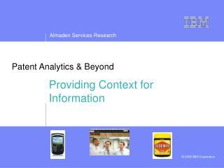 Patent Analytics  Beyond