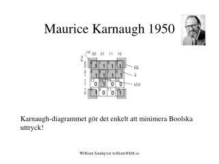 Maurice Karnaugh 1950