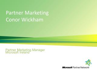 Partner Marketing Conor Wickham