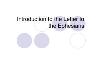 Introduction to the Letter to the Ephesians