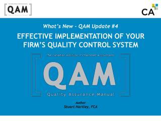 What s New - QAM Update 4