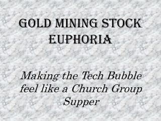 Gold mining stock