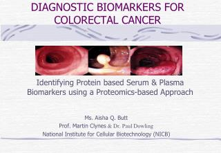 DIAGNOSTIC BIOMARKERS FOR COLORECTAL CANCER