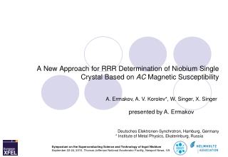 A New Approach for RRR Determination of Niobium Single Crystal Based on AC Magnetic Susceptibility