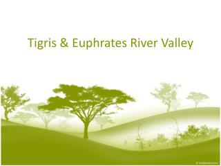 Tigris  Euphrates River Valley
