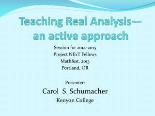 Teaching Real Analysis an active approach